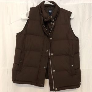 GAP Brown Puffer Vest